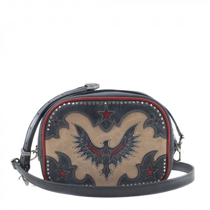 MINI BAG EAGLE BONE BLACK RED