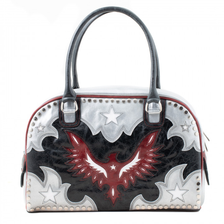 BAG DAY EAGLE BLACK SILVER RED